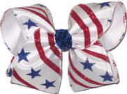 Large Stars and Stripes Large Double Layer Bow