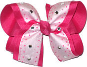 Overlay with Jewels Large Double Layer Bow