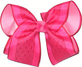 Shocking Pink over Light Pink Large Double Layer Bow