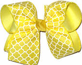 Maize and White Large Double Layer Bow