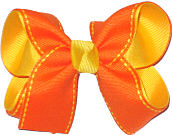 Orange and Maize Medium Double Layer Bow