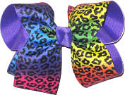 Rainbow Cheeta over Delphinium Large Double Layer Bow