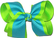 Lypple and Blue Lagoon Large Double Layer Bow