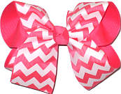 Tutti Fruiti and White Large Double Layer Bow