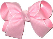 Pink with White Stitch Medium Double Layer Bow