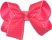 Watermelon with White Stitch Medium Double Layer Bow