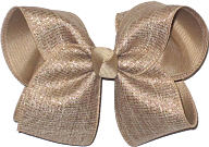 Large Khaki Canvas with Multi Highlghts over Khaki School Bow