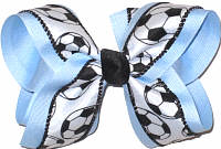 Millenium Blue Soccer Large Double Layer Bow
