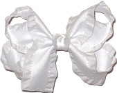 White Medium Double Layer Bow