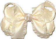 Antique White Medium Double Layer Bow
