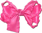 Rose Pink Medium Double Layer Bow