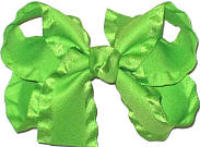 Apple Green Medium Double Layer Bow