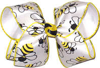 Bumble Bees! MEGA Extra Large Double Layer Bow
