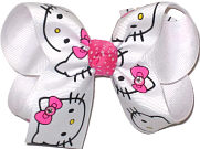 Hello Kitty with Swarovski Crystals Medium Double Layer Bow