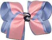 Sea Shell over Wisteria Large Double Layer Bow