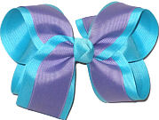 Tropic Lilac over Mystic Blue Large Double Layer Bow