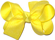 Maize Canvas Ribbon over Maize Medium Double Layer Bow