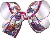 Medium Little Charmers over White Double Layer Overlay Bow