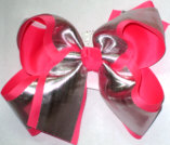 Silver/Tutti Fruity Large Double Layer Bow