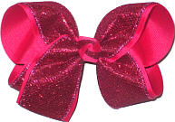 Large Sarsparilla Sparkle over Sarsparilla Double Layer Overlay Bow