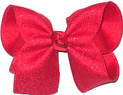 Large Red Sparkle Canvas over Red Double Layer Overlay Bow