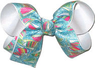 Medium Lilly Pulitzer Sailboats over White Double Layer Overlay Bow