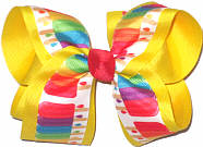 Large Popsicles over Maize Double Layer Overlay Bow