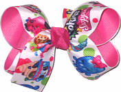 Medium Shopkins over Hot Pink Double Layer Overlay Bow