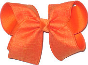 Large Orange Canvas over Orange Double Layer Overlay Bow