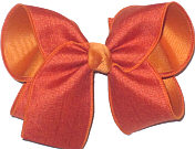 Large Rust Canvas over Ginger Double Layer Overlay Bow