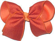 MEGA Rust Canvas over Pumpkin Pie Double Layer Overlay Bow