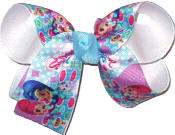 Medium Shimmer and Shine Genies over White Double Layer Overlay Bow