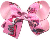 Medium LOL Surprise Dolls over Pink Double Layer Overlay Bow