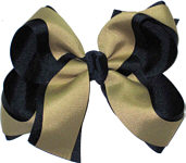 Navy and Khaki Large Double Layer Bow