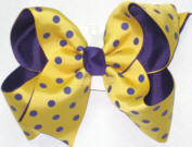 Maize with Purple Dots over Purple Large Double Layer Bow