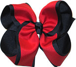 MEGA Navy and Red School Bow