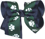 Large Evergreen and White over Navy School Bow
