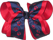 Large Navy over Red School Bow