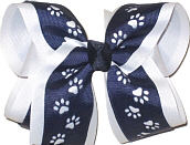 Large Navy over White School Bow