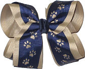 Large Navy over Khaki School Bow