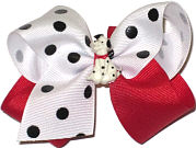 Toddler Dalmation Doggie Bow Miniatures or Corkers