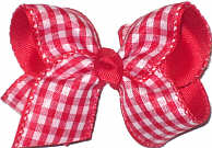 Toddler Red and White Plaid over Red Grosgrain Checks and Plaids