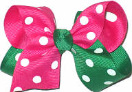 Toddler Shocking Pink and Emerald with White Dots Dots