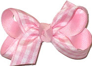 Light Pink and White Check Small