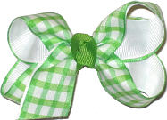 Light Green and White Check Small