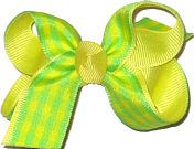 Light Green and Yellow Check Small