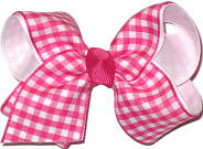 Toddler Shocking Pink and White Checks and Plaids