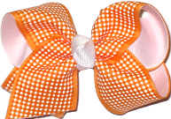Toddler Orange and White Checks and Plaids