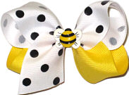 Toddler White with Black Dots and Maize with Bumble Bee Miniature Miniatures or Corkers