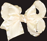 Creme with Satin Ruffled Edge Ruffled Edge